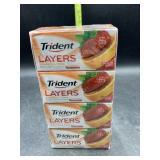 Trident layers strawberry citrus Sugarfree gum -
