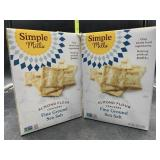 2 boxes almond flour crackers - fine ground sea