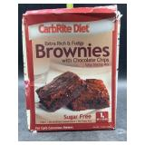 Carbright diet extra rich & fudgy brownies with