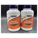 2 bottles super enzymes 180 capsules each