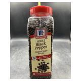 McCormick whole black pepper 17.5oz