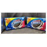 2 Family Size packs Oreos Double Stuff Cookies.