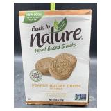 Plant based snacks - peanut butter creme cookies