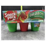 Snack pack dragon treasure flavored pudding