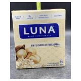 Luna whole nutrition bar white chocolate
