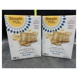 2 boxes almond flour crackers- fine ground sea