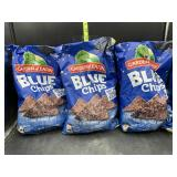 3 bags blue corn chips - bags are pretty smashed