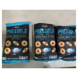 3 bags Sea salt pressels baked pretzel chips