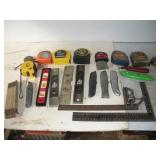 Utility Knives, Measuring Tapes and Levels