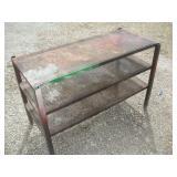 Standing Metal Shelf, 40x19x26