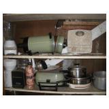 Contents of 2 Shelves, Kitchen