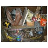 Contents of 2 Shelves, Scrap and Misc. Items