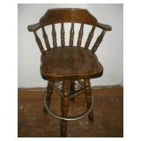 Wooden Barstool, 43 inches Tall