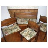 Sears and Roebuck Pine Chairs (3) and Bench