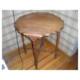 Wooden Side Table, 26x26x28