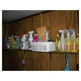 Contents of Shelf, Cleaning Supplies