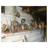 Contents of Shelf, (Barn)
