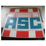 Automotive Service Council Double Sided Metal Sign