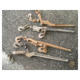 (4) Chain Binders  30 Inches Long