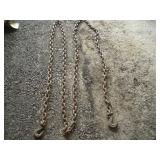 16ft Tow Chain W/2 Hooks   Link - 1 1/4 x 1 3/4