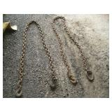 (2) 8ft Tow Chains   Largest Link - 1 1/2 x 2
