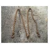 12ft Tow Chain   Link  1 1/4 x 1 3/4