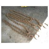 Hoist Chain 40ft Total Length  2 Hooks/Center Ring