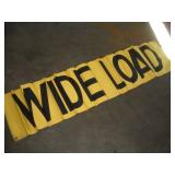 Wide Load/Over Sized Load Banner  65x15 Inches