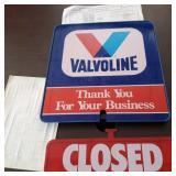 Vavoline Open Closed Door/ Window Sign
