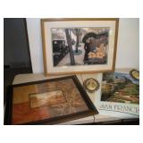 2 Framed Prints and More, Largest 26x20