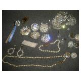 Fashion Jewelry, Crystal Pins and Earings