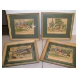 4 William MCK Spierer Signed Watercolors, 15x13