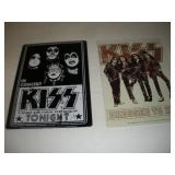 (2) KISS Metal Signs  8x12 Inches