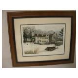 John Stevens Water Color Framed Print  42/295