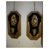 (2) Victorian Style Wall Lights  16x31 Inches