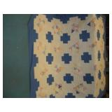 Hand Sewn Patchwork Quilt  76x92 Inches