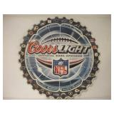 Coors Light Saw Blade Metal Sign  36 Inches