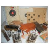 Assorted Gun Accessories-Holsters, Targets