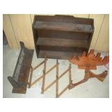 Wooden Shelves and Candle Holders, Largest