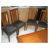 4 Mission Style Chairs