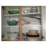 Contents of Cabinet-Pie Plates, Platters