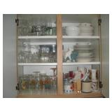 Contents of Cabinet, Wine Glasses, Winnie the