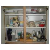 Contents of Cabinet-Rolling Pin, Kitchen Utensils