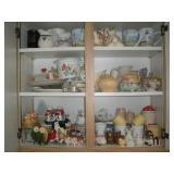 Contents of Cabinet-Salt and Pepper Shakers,