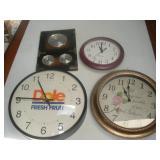 Wall Clocks and Barometer