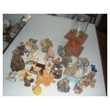 Bears Figures, Wooden Gum Ball Dispenser