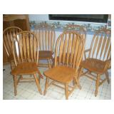 A-America Oak Chairs (6)