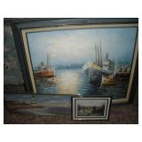 Nautical Framed Painting and Prints