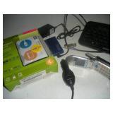 Misc. Lot-Portable Hardrive, Flip Phone. USB Hub
