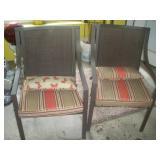 2 Metal Lawn Chairs w/Cushion, New